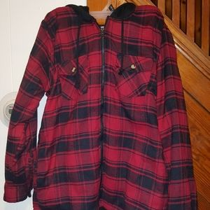 Other - Brand new mens med flannel hoodie